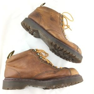 Dr. Martens Shoes - Vintage ankle boots brown leather padded England